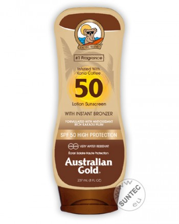 Australian Gold - SPF 50 Lotion mit Bronzer (237 ml)