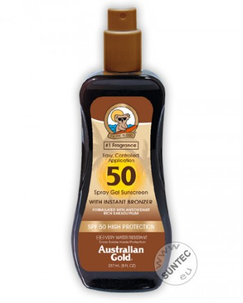Australian Gold - SPF 50 Spray Gel mit Bronzer (237 ml)