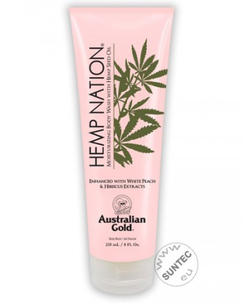 Australian Gold - Hemp Nation White Peach Hibiscus Body Wash (235 ml)