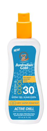Australian Gold - SPF 30 Spray Gel Active Chill (237 ml)