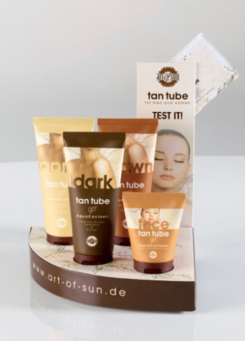 art of sun - tan tube Display (ohne Bestückung)
