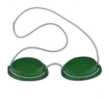 Schutzbrille mit Gummizug (grün)